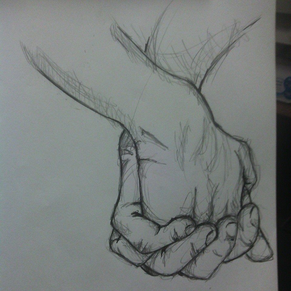 Hands Together Drawing Drawing – Clasped Hands