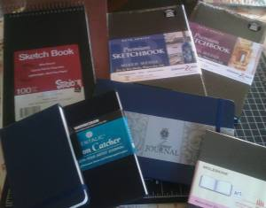 Sketchbooks in waiting 10-03-2016